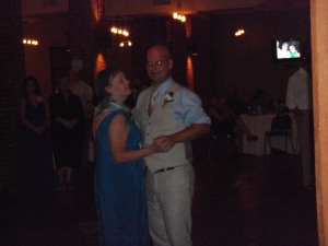 Mother and son dance
