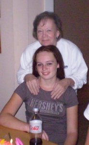 Me and my grand-daughter on her 13th birthday